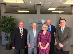 Joe Giovannini, Lee Brown, Amanda Hetzel & Mark Bridges of NIS welcome U.S. Congressman Patrick McHenry