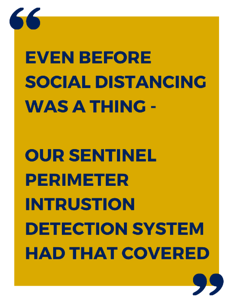 SENTINEL was stanging out from the crowd - Even Before social distancing was a thing copy